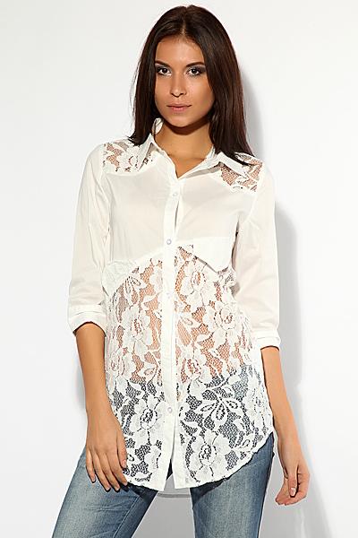 Рубашка с кружевами